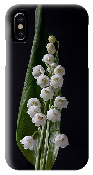 Lily Of The Valley On Black IPhone Case