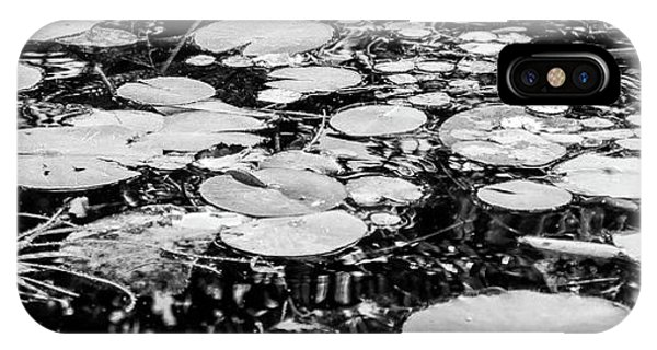 Lily Pads, Black And White IPhone Case