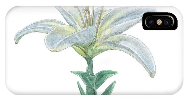 Lily Watercolor IPhone Case