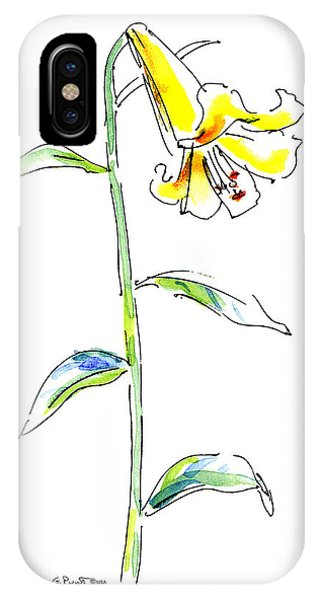 Lily Watercolor Painting 2 IPhone Case