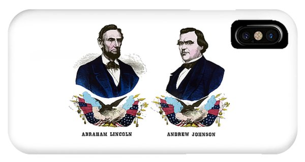 Lincoln And Johnson Campaign Poster IPhone Case