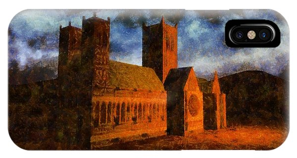Strange iPhone Case - Lincoln Cathedral by Esoterica Art Agency