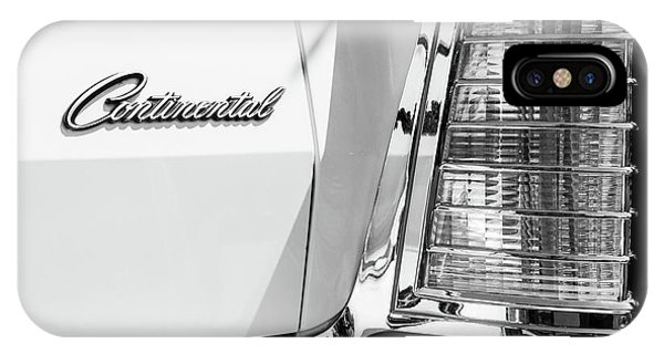 Lincoln Continental iPhone Case - Lincoln Continental Mark Iv Head Light -0149bw by Jill Reger