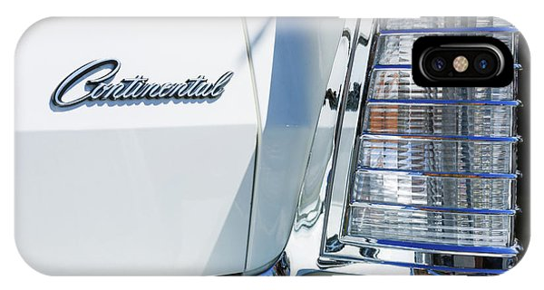 Lincoln Continental iPhone Case - Lincoln Continental Mark Iv Head Light -0149c by Jill Reger