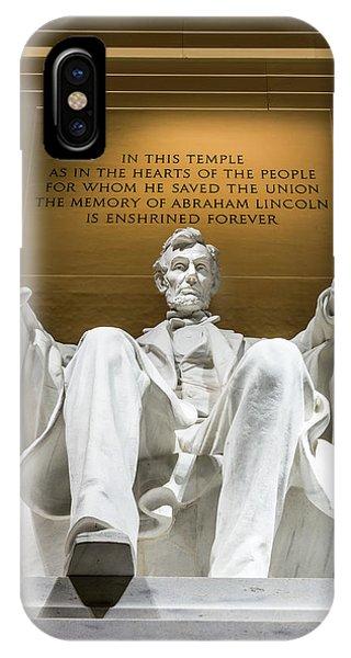 Lincoln Memorial 2 IPhone Case