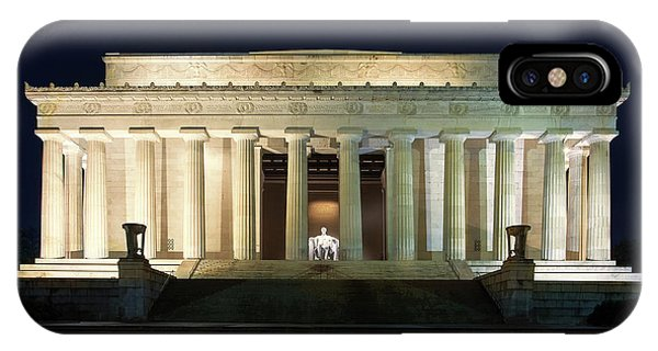 Lincoln Memorial iPhone Case - Lincoln Memorial At Twilight by Andrew Soundarajan