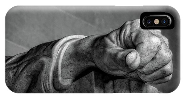 Lincoln's Left Hand B-w IPhone Case