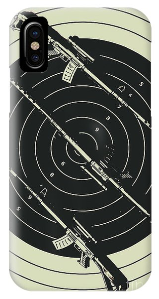 Shooting iPhone Case - Line Art Rifle Range by Jorgo Photography - Wall Art Gallery