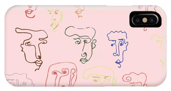 line faces I IPhone Case