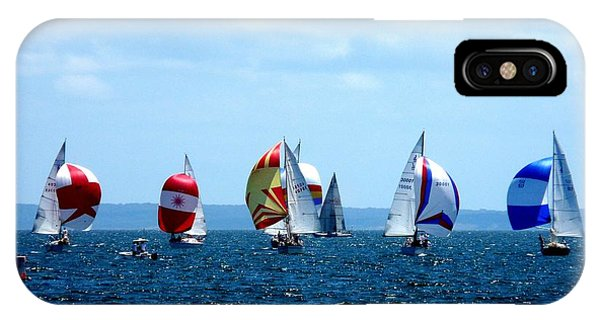Boats iPhone Case - Line Up by Kendall Eutemey