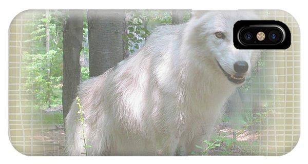 Linen Wolf Pose Phone Case by Debra     Vatalaro