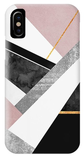 Graphic Design iPhone X Case - Lines And Layers by Elisabeth Fredriksson