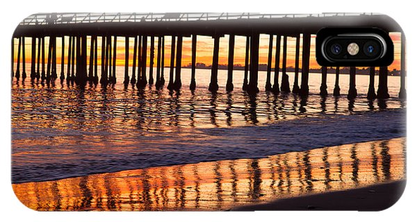 Sunset Seacliff Shadows IPhone Case