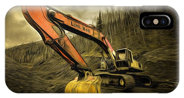 Link Belt Excavator IPhone Case