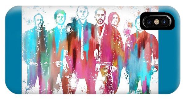 Linkin Park Watercolor Paint Splatter IPhone Case