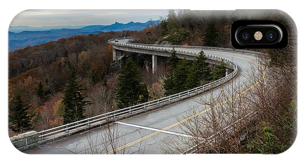 Linn Cove Viaduct Late Fall IPhone Case