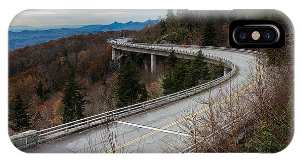 Linn Cove Viaduct Late Fall IPhone Case