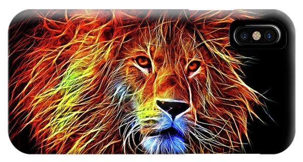 Lion 12818 IPhone Case