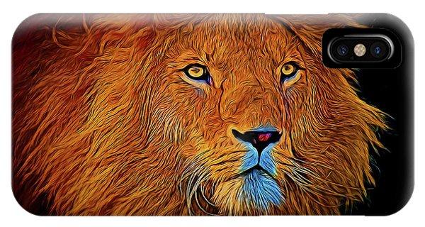 Lion 16218 IPhone Case