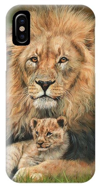 Lion And Cub IPhone Case