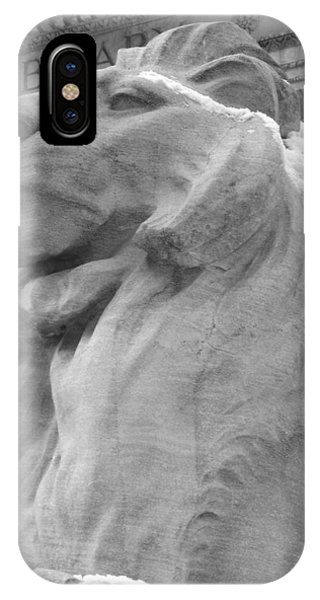 Lion At New York Public Library IPhone Case