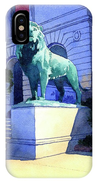 Lion At The Art Institue Of Chicago IPhone Case