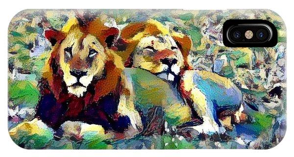 Lion Buddies IPhone Case