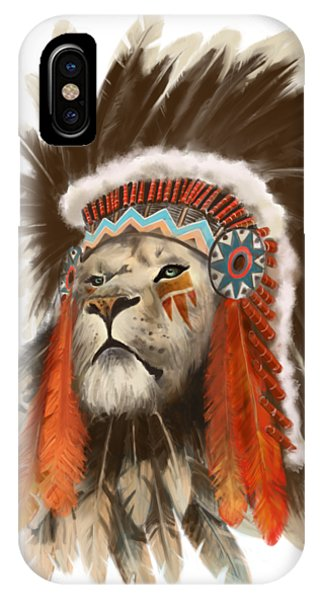 Fantasy Art iPhone Case - Lion Chief by Sassan Filsoof