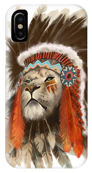 Lion iPhone Case - Lion Chief by Sassan Filsoof