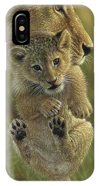 Lion Cub - Mother's Pride IPhone Case