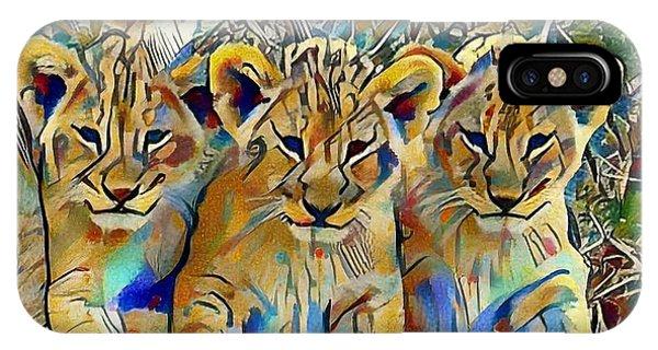 Lion Cubs IPhone Case