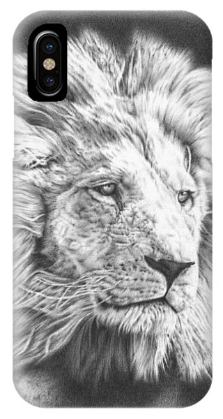 African Lion Art iPhone Case - Fluffy Lion by Remrov