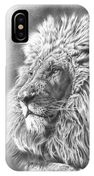 African Lion Art iPhone Case - Lion King by Remrov