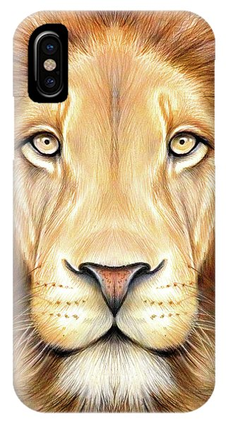 Lion Head In Color IPhone Case