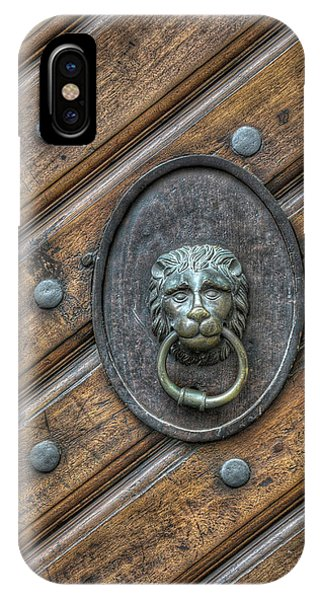IPhone Case featuring the photograph Lion Knocker by Michael Kirk