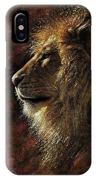 Lion Portrait - His Majesty IPhone Case