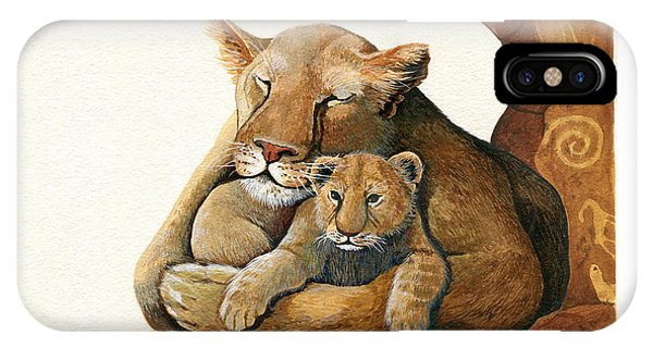 Lion - Protect Our Children Painting IPhone Case
