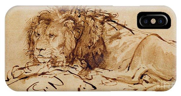 Lion Resting IPhone Case