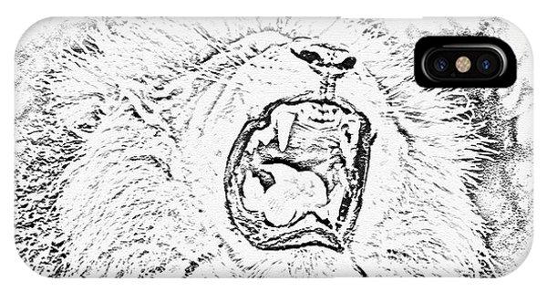 Lion Roar Drawing IPhone Case