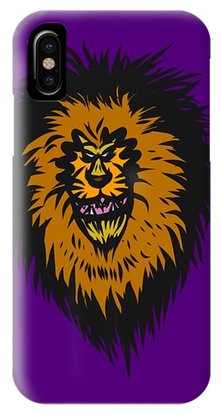 Lion Roar Purple IPhone Case