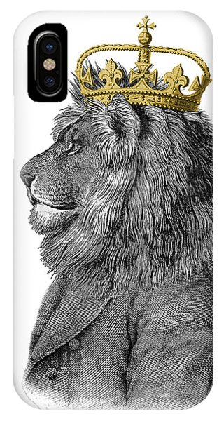 England iPhone Case - Lion The King Of The Jungle by Madame Memento