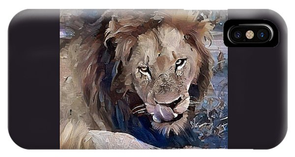 Lion With Tongue IPhone Case
