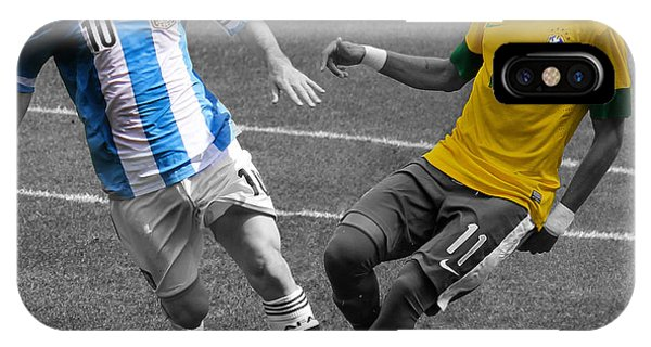 Lionel Messi And Neymar Clash Of The Titans At Metlife Stadium  IPhone Case