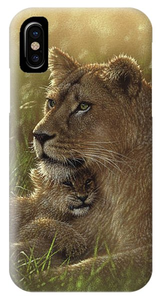 Lioness And Cub - Safe Haven IPhone Case