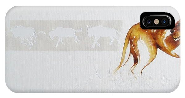 Lioness And Wildebeest IPhone Case