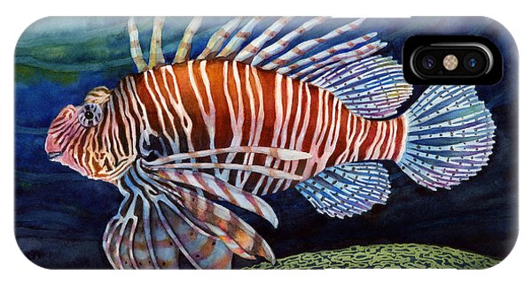 Fins iPhone Case - Lionfish by Hailey E Herrera