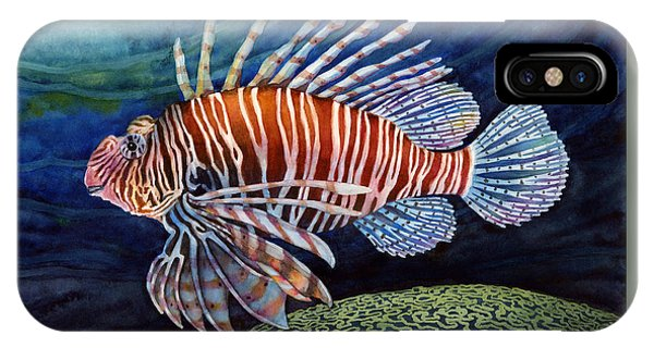 Brain iPhone Case - Lionfish by Hailey E Herrera