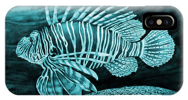 Lionfish On Blue IPhone Case