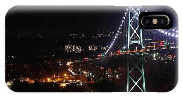 Lions Gate Bridge And Grouse Mountain IPhone Case