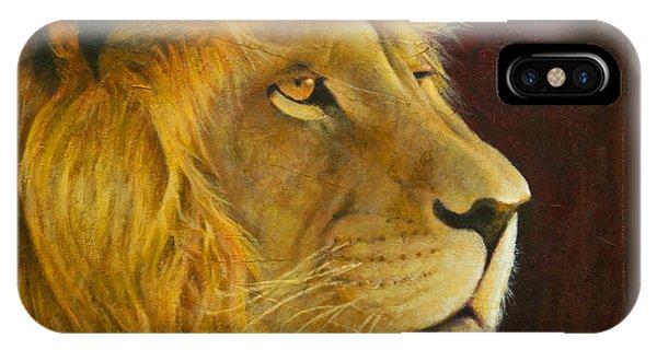 Lion's Gaze IPhone Case
